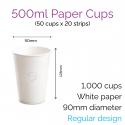 Cups - 500ml Paper Cups (50 pcs)