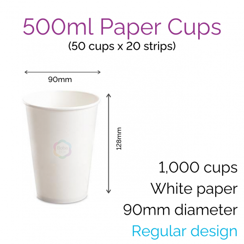 Cups - 500ml Paper Cups (50 pcs)