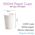 500ml Soft Cups (100 Cups)