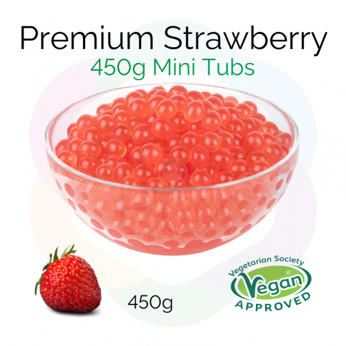450g Mini Tubs - Strawberry Flavoured Juice Balls (NC) (BBD 18 Oct 2021)