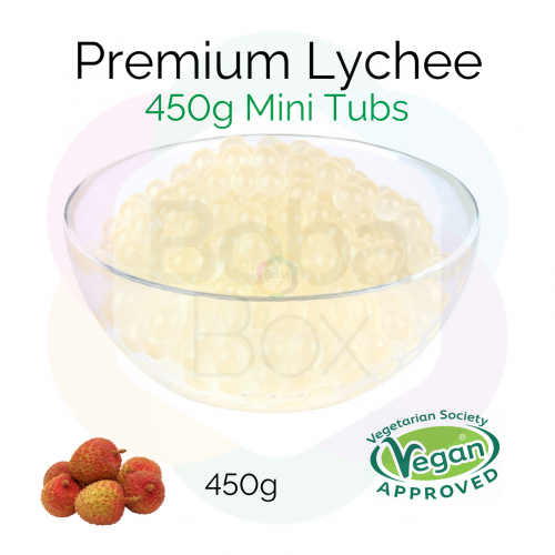 450g Mini Tubs – Lychee Flavoured Juice Balls (NC)
