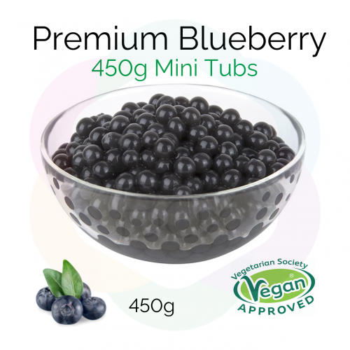 450g Mini Tubs - Blueberry Flavoured Juice Balls (NC) (BBD 18 Oct 2021)