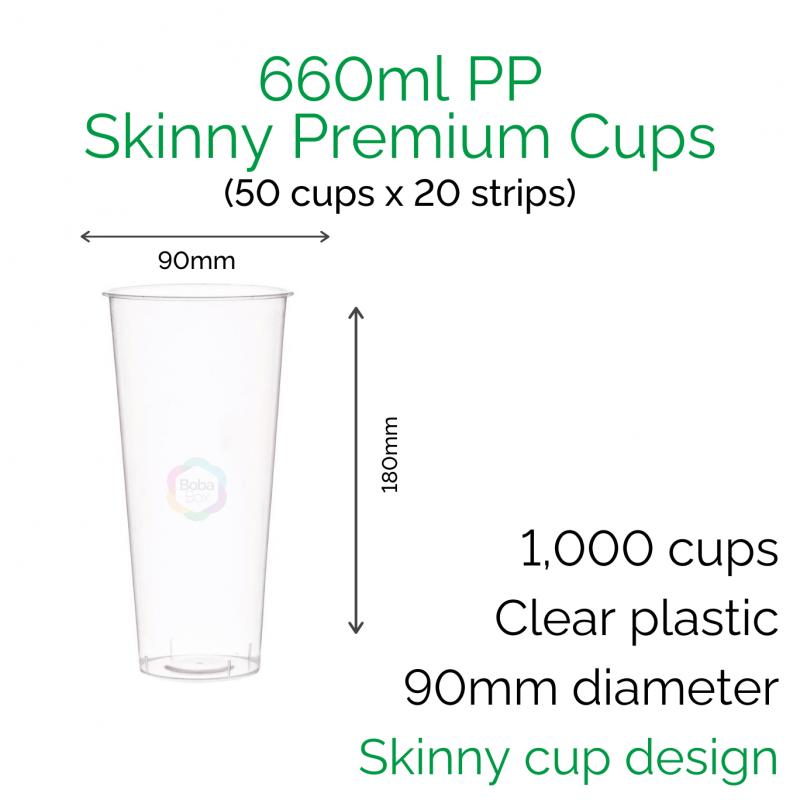 Cups - 700ml PP Skinny Premium Cups (50 pcs)