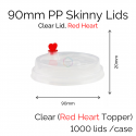 Lids - 90mm PP Skinny (Clear RH) (100 pcs)