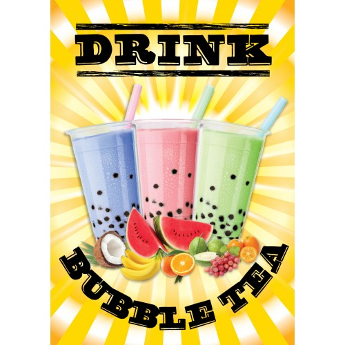 Bubble Tea Sunshine Poster (A2)