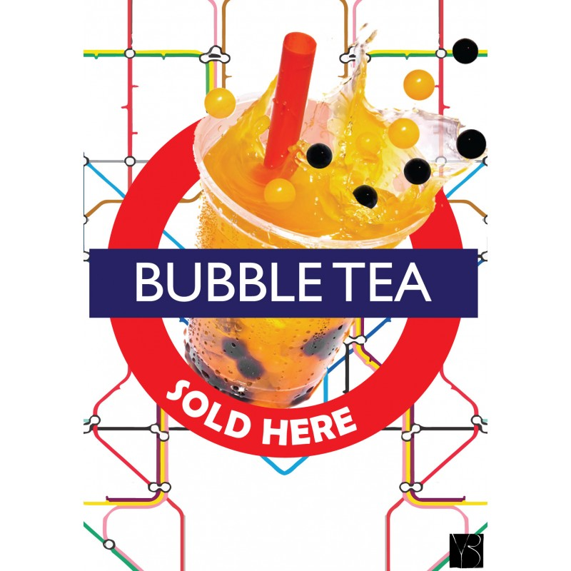 Bubble Tea London Poster