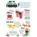 Bubble Tea Toppings Poster (A2)