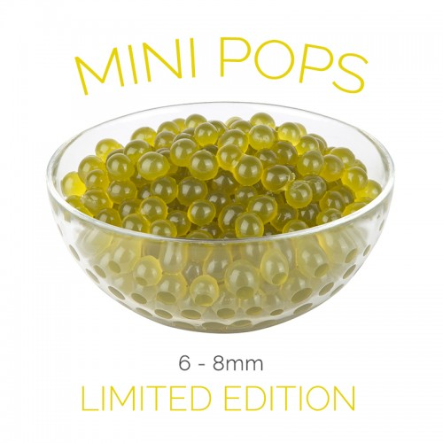 *Mini Pops* Green Apple Flavoured - 6-8mm Juice Balls (NC) (3.2kg tub)
