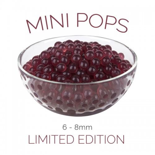 *Mini Pops* Raspberry Flavoured 6-8mm Juice Balls (NC) (3.2kg tub)