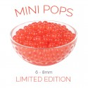 *Mini Pops* Strawberry Flavoured 6-8mm Juice Balls (NC) (3.2kg tub)