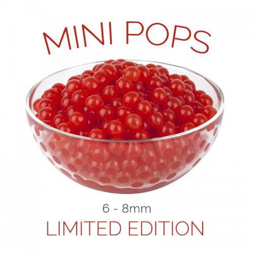 *Mini Pops* Cherry Flavoured 6-8mm Juice Balls (NC) (3.2kg tub)