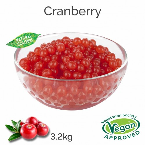 Natural Cranberry Juice Balls  (3.2kg tub)