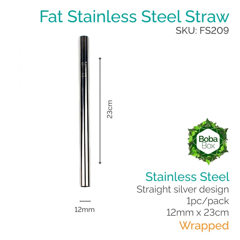 Stainless Steel Straw - Straigh