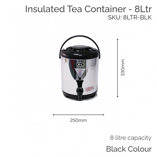 Insulated Black Tea Container - 8Ltr (1 pc)