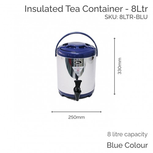Insulated Blue Tea Container - 8Ltr (1 pc)