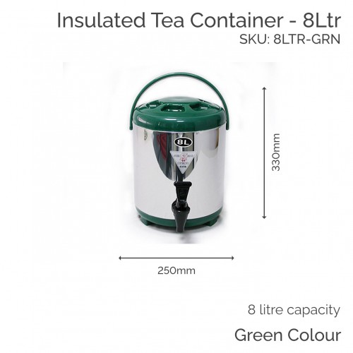 Insulated Green Tea Container - 8Ltr (1 pc)