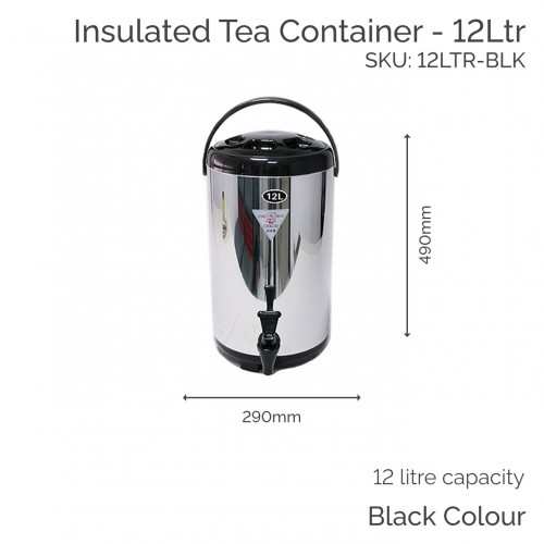 Insulated Black Tea Container - 12Ltr (1 pc)