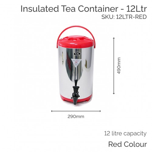 Insulated Red Tea Container - 12Ltr (1 pc)