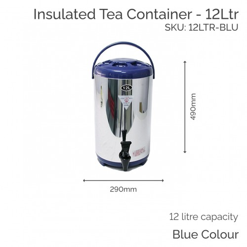 Insulated  Blue Tea Container - 12Ltr (1 pc)