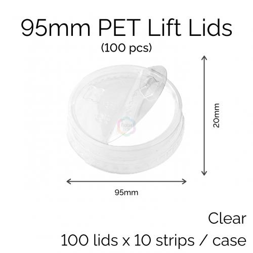 95mm PET Lid - Lift