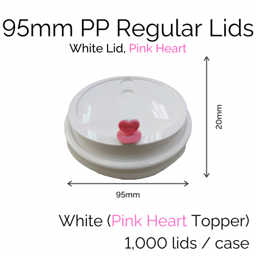 Lids - 95mm PP Regular (White PH) (100 pcs)