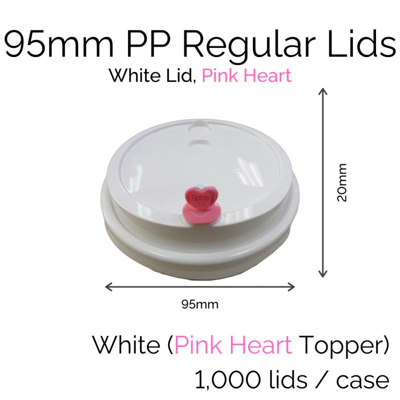 Lids - 95mm PP Regular (White PH) (100 pcs)