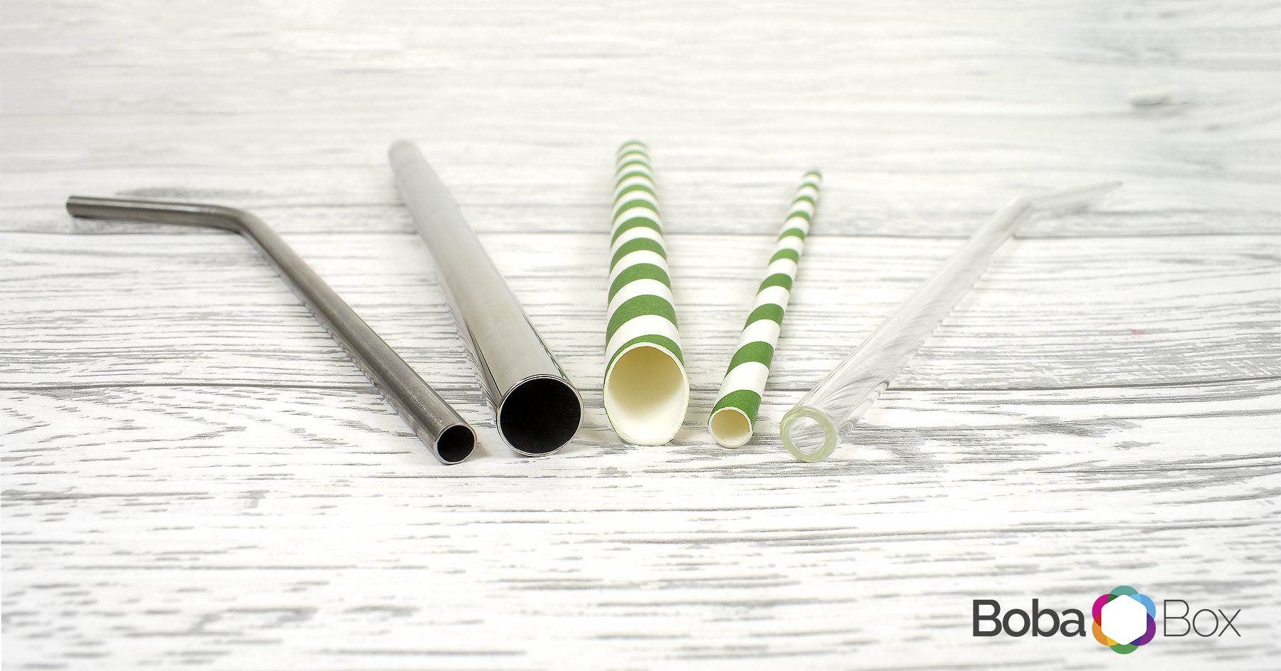 eco friendly sustainable reusable bubble tea glass paper stainless steel straws